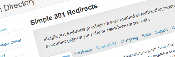 اضافة Simple 301 Redirects