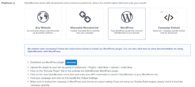 حدد WordPress